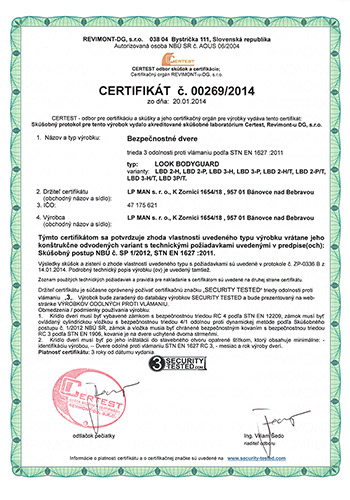 LP MAN Certificate CERTEST
